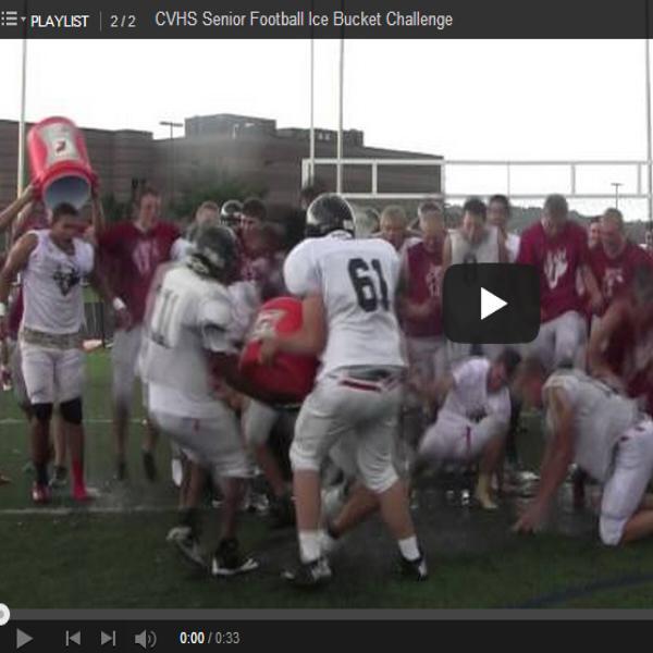 CVHS Senior football team does the ALS ice bucket challenge