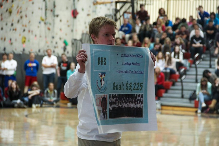 Students raise $2,575 in one day