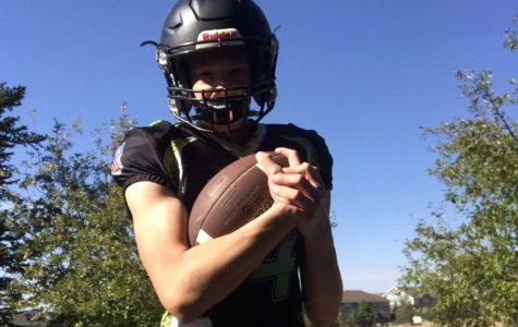 Logan Wier, freshman, prepares for the upcoming football season.