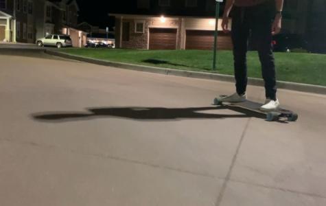Skateboarding with Parker